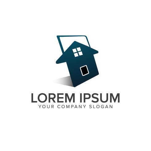 Plantilla de concepto de diseño de logotipo de bienes raíces vector