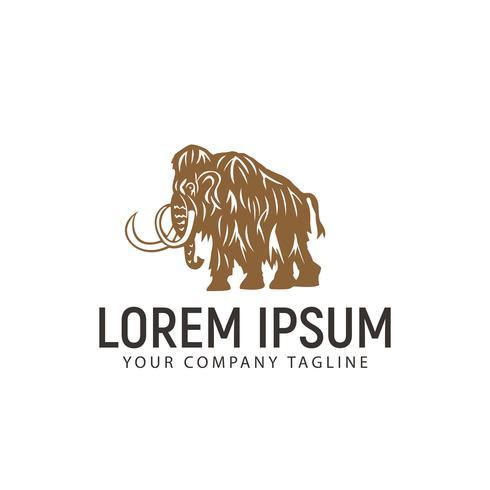 Plantilla de concepto de diseño de logotipo de mamut