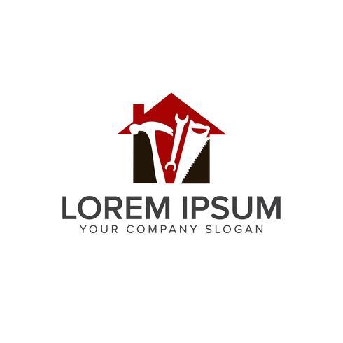modelo de conceito de design de logotipo de ferramenta de construção