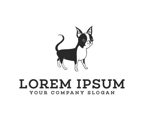 Stand logo del cane. modello di concetto di design logo logo cane