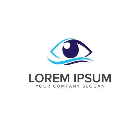 eye logo design concept template vector