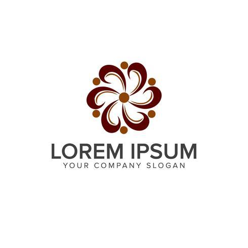 modelo de conceito de design de logotipo de flor de decoração