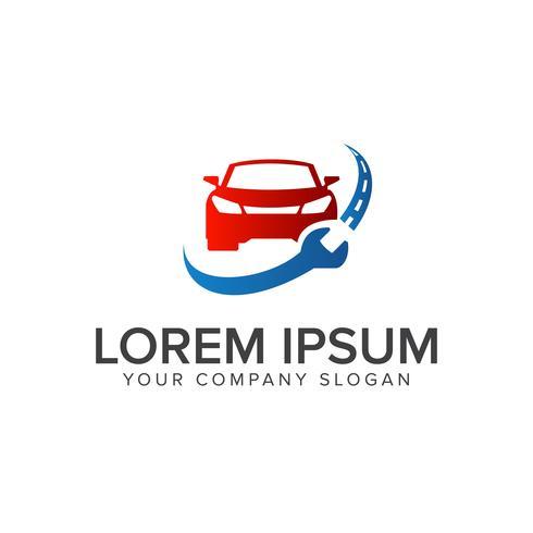 modelo de conceito de design de logotipo de reparação automotiva vetor