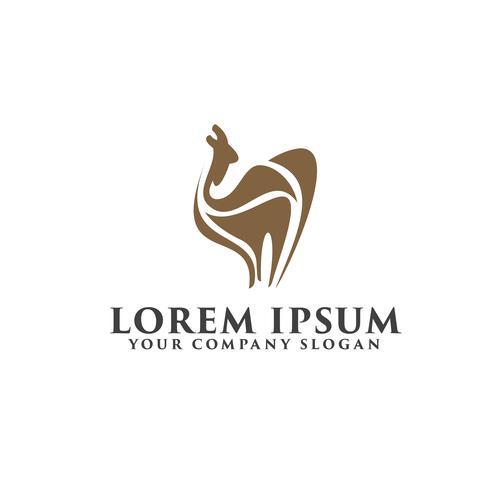 Plantilla de concepto de diseño de logotipo de camello vector