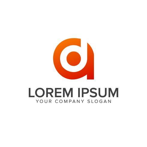 letter D A logo design concept template
