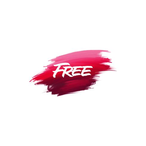 Hand-written lettering brush phrase Free with watercolor background
