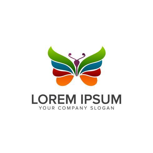 Logotipo da borboleta. modelo de conceito de design multicolor