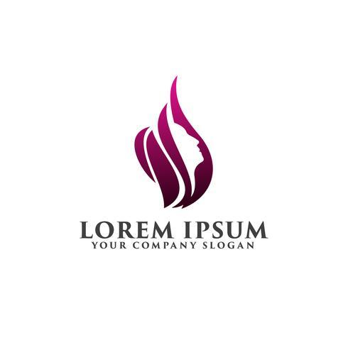 beautiful women Logos. Spa ,Cosmetics and beauty logo design con