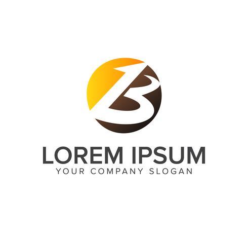 Plantilla de concepto de diseño de logotipo de letra b círculo