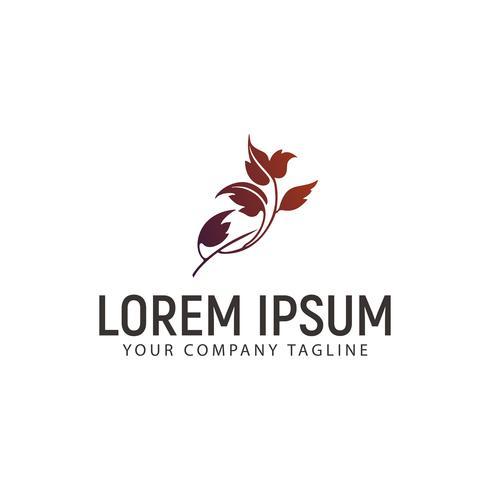 Floral Leaf Logo Design-Konzept-Vorlage