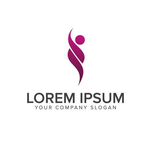 raise people logo. activity people logo design concept template