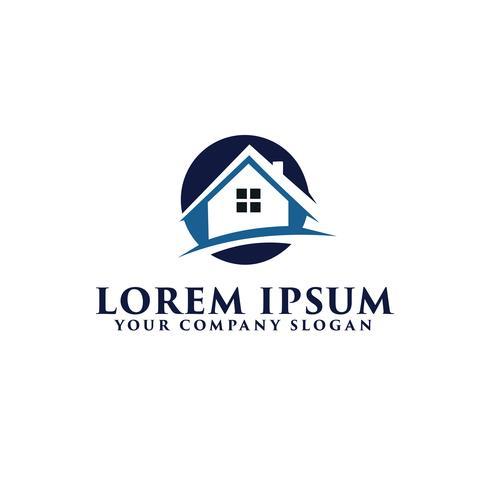 Modello di concetto di design del logo immobiliare
