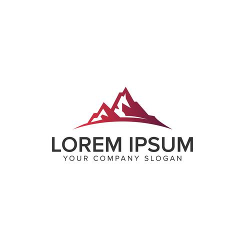 luxury modern mountain Modelo de conceito de design de logotipo