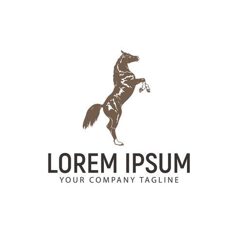 modèle de concept de cheval logo vintage design