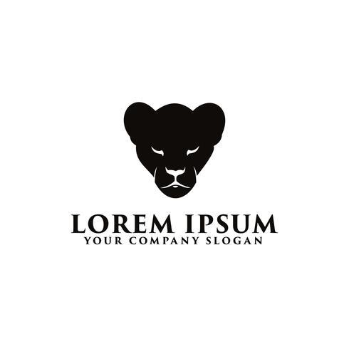 modèle de concept de logo panthère noire vecteur