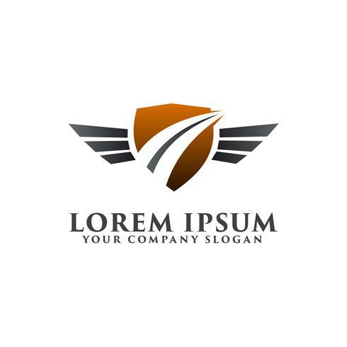 road security logo. safe driving logo design concept template vector