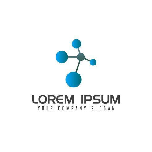 atom dna logo design concept template