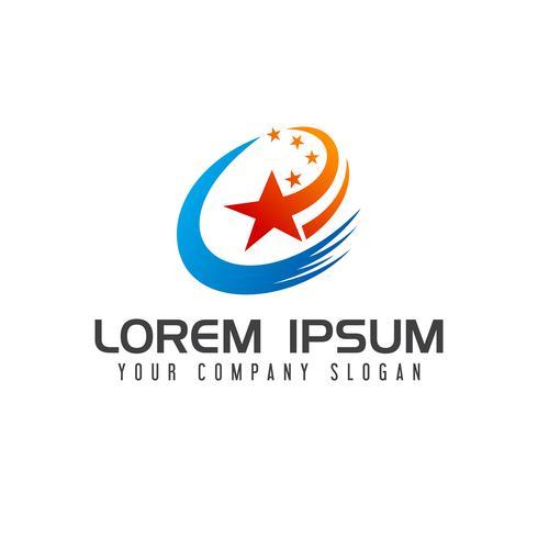 logo étoile abstraite. modèle de concept de technologie logo design vecteur