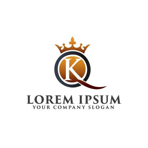 lettera K lusso logo modello di design concept