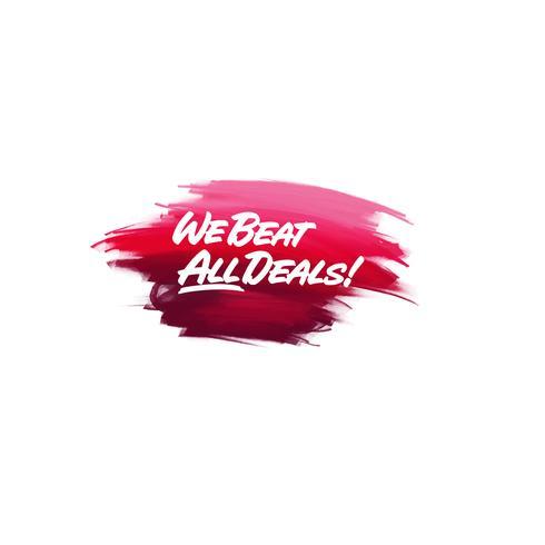 Frase scritta a pennello scritta a mano We Beat All Deal con waterc