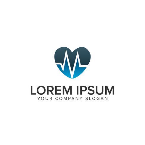kärlek medicin Logo design koncept mall