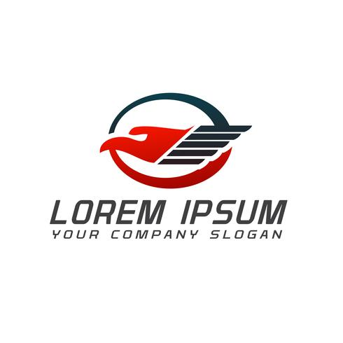 Plantilla de concepto de diseño de logotipo logístico de aves