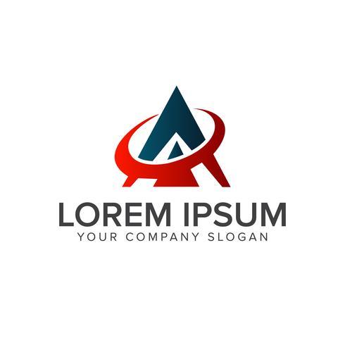 lettera A. modello di concetto di tecnologia logo design