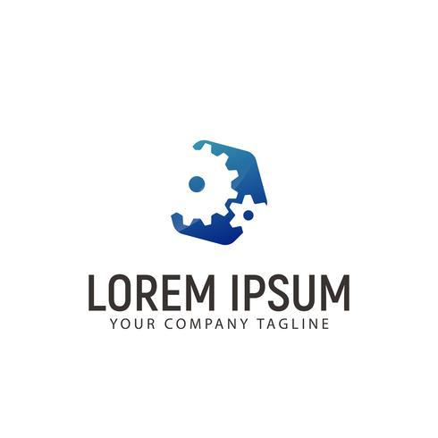 Gear Logo design concept template