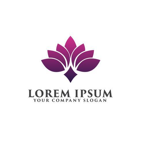 flower spa logo design concept template