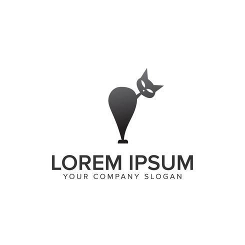 modèle de concept de conception de logo chat