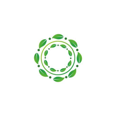 nature feuille logo design vector illustration élément icône