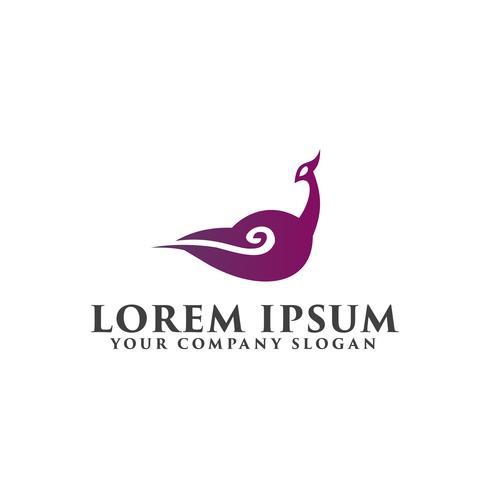 modelo de conceito de design de logotipo de nuvem de ganso