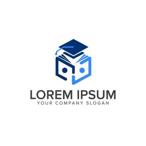 Logo de l'éducation. Lire le modèle de concept de conception de logo de livre vecteur