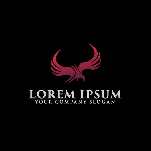 abstrakt örn Logo design koncept mall