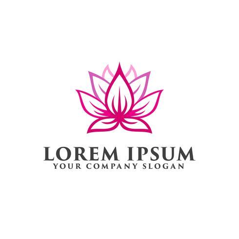 Plantilla de concepto de diseño de logotipo de flor de loto