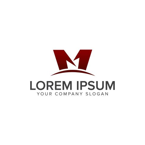 Buchstabe M Logo-Design-Konzept-Vorlage