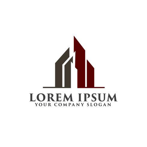architettonico, costruzione, immobiliare e ipoteca logo desig