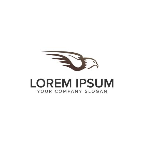 Plantilla de concepto de diseño de logotipo águila vector