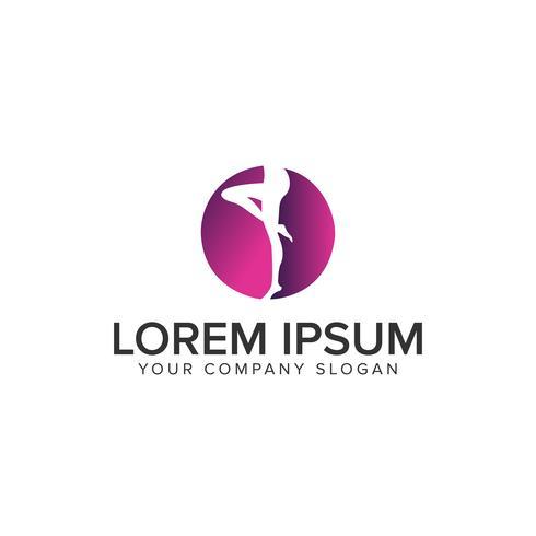 jambe de femme Logo modèle de concept de design