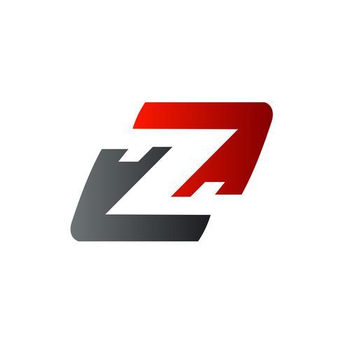 lettera Z logo. modello di concetto di velocità logo design