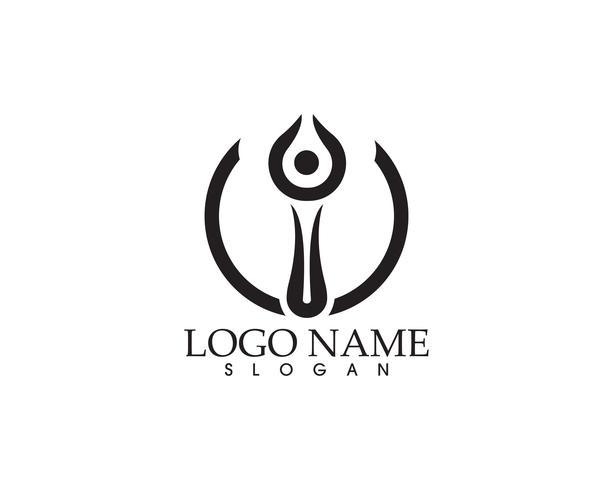 Star logo success people template vector icon illustration design