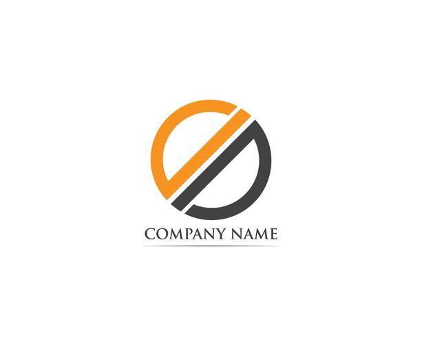 Vector de logotipo y símbolos de finanzas