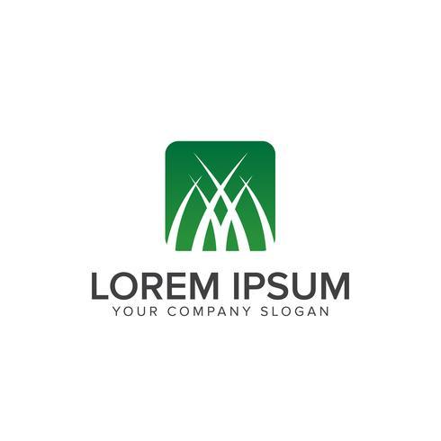 Plantilla de concepto de diseño de logotipo de hierba