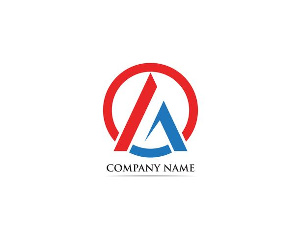 Un'icona di vettore del modello di affari di logo