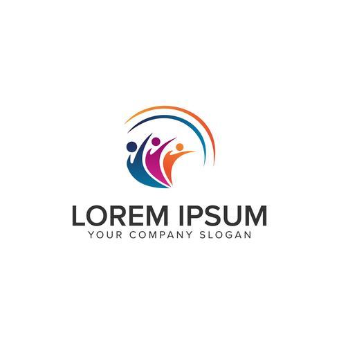 éducation gens Logos modèle de concept de design