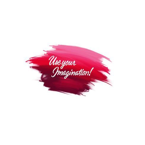 Handgeschriebene Schriftpinselphrase Verwenden Sie Ihre Vorstellungskraft mit wa