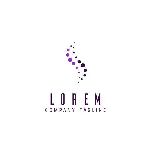 modello di concetto di design di lusso lettera lettera S logo