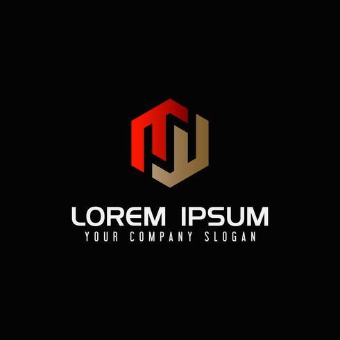Modèle de concept de design moderne lettre M logo