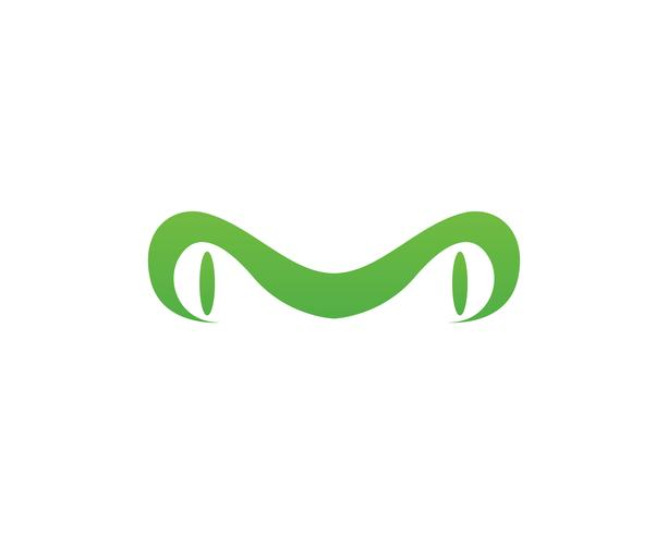 green frog symbols logo template