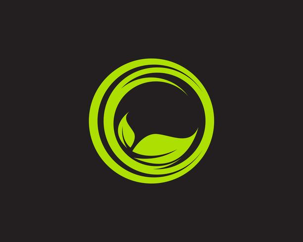 Logos hoja verde ecología naturaleza elemento vector icono